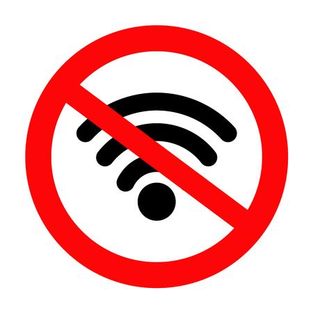 no wifi sign and symbol, STOP! No signal icon, vector illustration