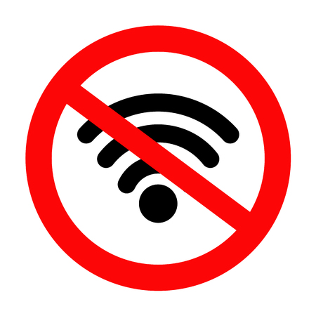 no wifi sign and symbol, STOP! No signal icon, vector illustration