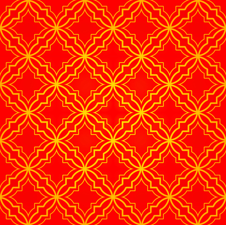 Red and gold seamless pattern background Illustration