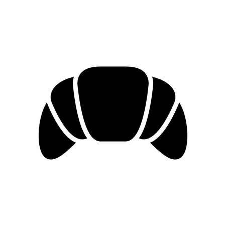 croissant icon illustration isolated vector sign symbol  イラスト・ベクター素材