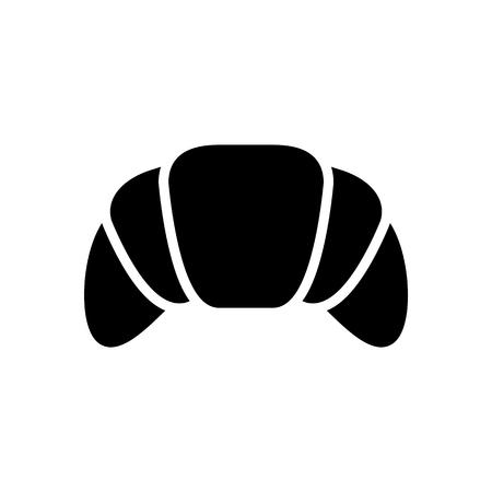 croissant icon illustration isolated vector sign symbol Stock Illustratie