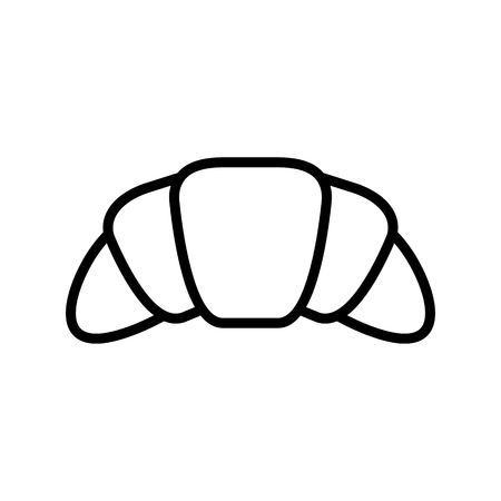 croissant icon illustration isolated vector sign symbol Vettoriali