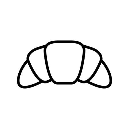 croissant icon illustration isolated vector sign symbol Illustration