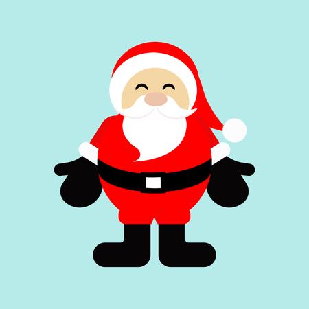 Santa Claus cartoon, Christmas sign and symbol with old man, vector illustration