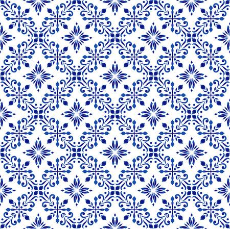 floral pattern, beautiful wallpaper baroque background, Arabic seamless decor vector illustration