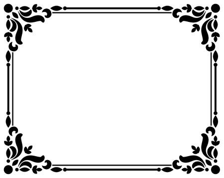 vintage decorative floral borders and frames, Calligraphy ornamental fancy frame and page decoration, Thai pattern corner, vector illustration Illustration