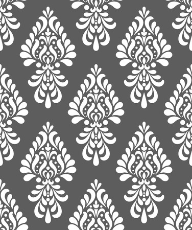 seamless damask pattern, vintage wallpaper classic style of baroque, floral decorative gray background for design, texture, wall, fabric and silk, vector illustration