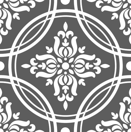 seamless damask pattern, pink wallpaper classic style of baroque, floral decorative background for design, texture, ceiling, wall, fabric and silk, vector illustration