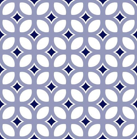 cute tile pattern, vintage modern seamless background, beautiful ceramic wallpaper decor vector illustration