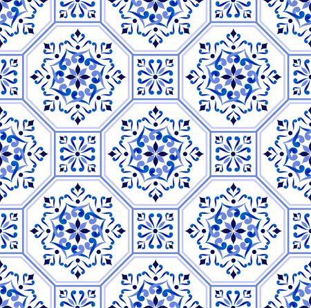 Talavera pattern, Azulejos Portugal colorful patchwork, Turkish tile ornament, Moroccan mosaic, Spanish porcelain, Ceramic tableware, folk print, Spanish pottery, Mediterranean seamless wallpaper