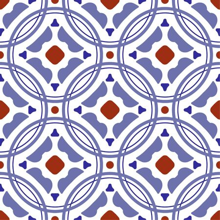 ceramic tile pattern, vintage tiled design with colorful patchwork Turkish style, decorative floral Portugal ornament, Moroccan background, Spanish tableware, seamless Mexican talavera, pottery print