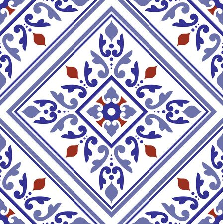 tile pattern, ceramic tiled design with colorful patchwork Turkish style, decorative floral Portugal ornament, seamless Thai decor, pottery folk print, Spanish tableware, Mexican talavera background