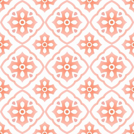 Mexican talavera, vintage ceramic tile pattern, Italain pottery decor, Portuguese azulejo seamless design, colorful Spanish majolica ornament, pink and white antique wallpaper background, vector