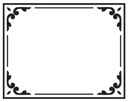 decorative frame vintage style, Elegant element for design template, place for text, black floral ornament border, Lace decor for birthday and greeting card, wedding invitation, certificate, vector
