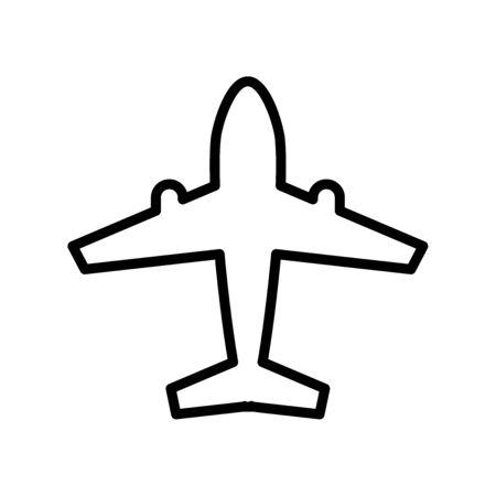 airplane icon line, Transportation and Tourism sign and symbol, vector illustration