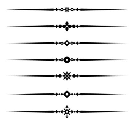 Kolekcja dekoracyjnych elementów linii, piękne różne ozdobne zasady dla eleganckiego obramowania i strony, ilustracji wektorowych