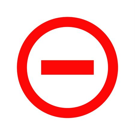Do not enter blank sign, Traffic icon, vector illustration