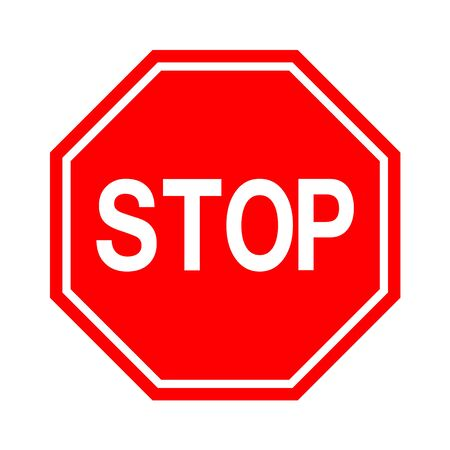 Stop sign isolate on white background, traffic icon vector illustration Vector Illustration