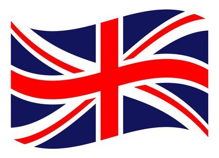 Flag of the United Kingdom, British background, vector illustration Ilustração