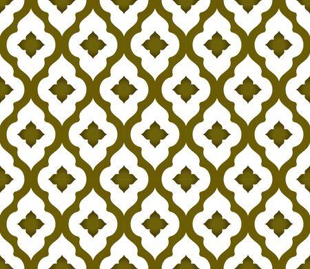 seamless Thai pattern, golden modern shape background Islamic style, vector illustration Çizim