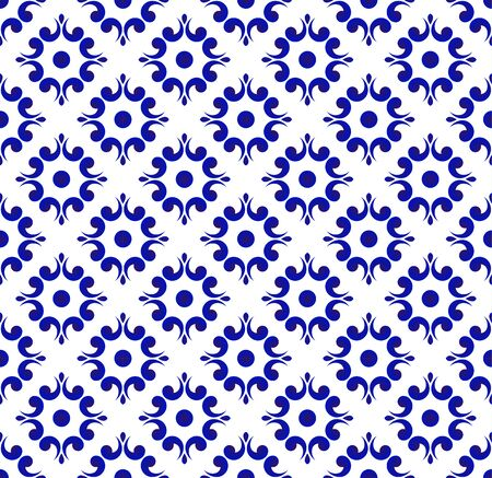 blue and white Japan and Chinese seamless pattern for design, porcelain, chinaware, ceramic tile, ceiling, texture, wall, paper silk and fabric, vector illustration, beautiful China background 일러스트