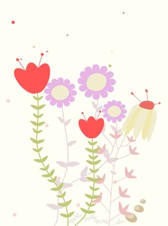 childlike: childlike floral greeting  Illustration