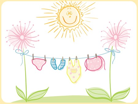 baby clothing Stock Vector - 7939159