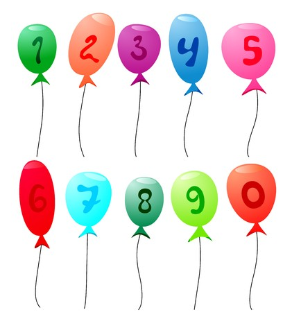 balloons with numbers  Stock Vector - 7939161