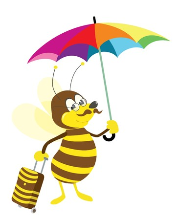 bee on vacation Stock Vector - 7939150