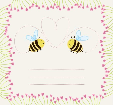 bees in love  Stock Vector - 7939192