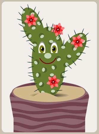 cartoon cactus Vector