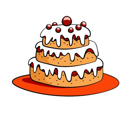 cream pie: cartoon cake