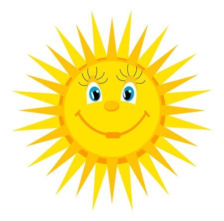 red sun: cartoon sun Illustration