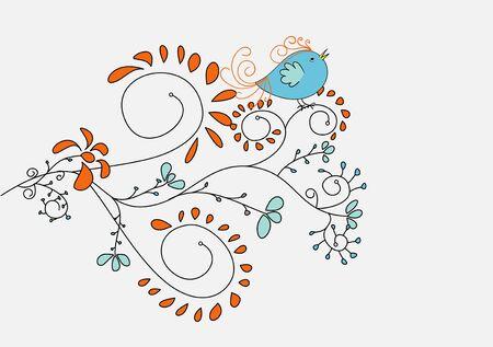 wallpaperrn: cute bird on a branch