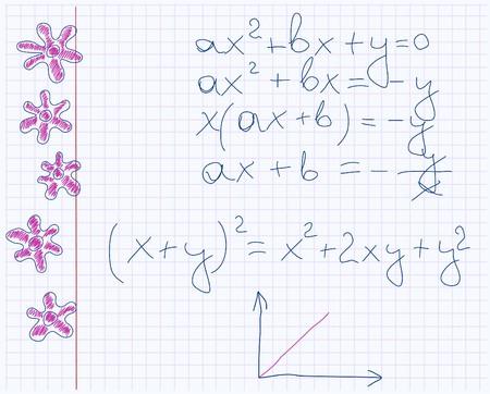 maths notebook paper  Stock Vector - 7797491