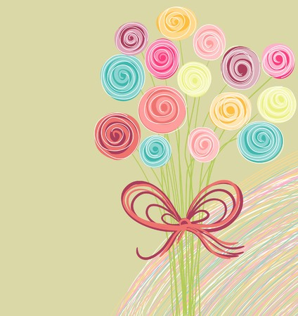 candid: abstract bouquet of flowers