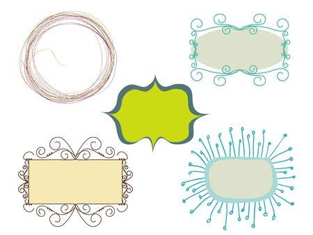 set of doodle frames