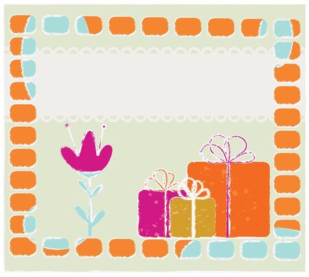 vintagern: abstract greeting template