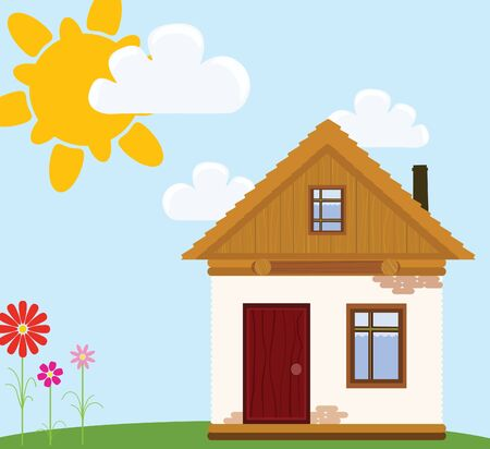 childlike illustration of house  Vector