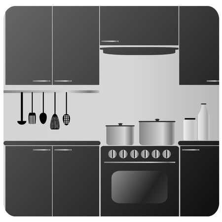 cocina  Ilustración de vector