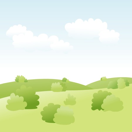 spring landscape  Stock Vector - 7797443