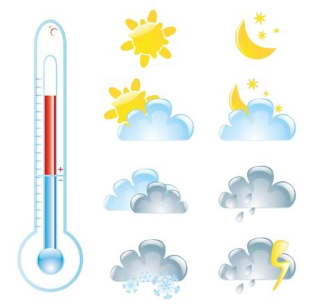 hot temperature: elementos meteorol�gicos  Vectores