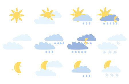 temperate: weather icons