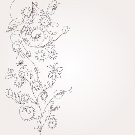 vintagern: floral background  Illustration
