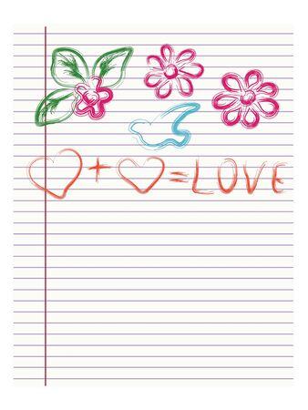 childlike: childlike drawing of love