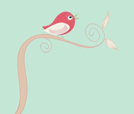 cute bird Stock Vector - 7797383