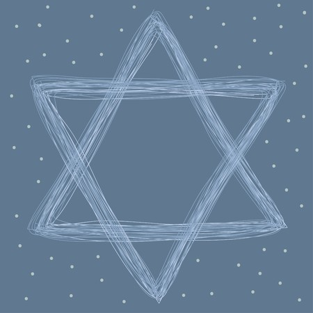 star of david made of lines  Vector