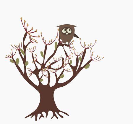 wallpaperrn: cute owl on a tree