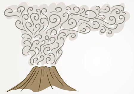 ausbrechen: Vulkan  Illustration