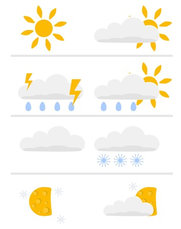 temperate: childlike weather icons
